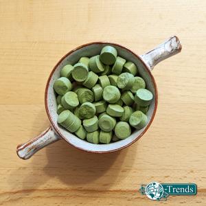 Moringa-Presslinge in Dose oder Tüte (100 gr = ca. 200 Stück Presslinge a. 500 mg)