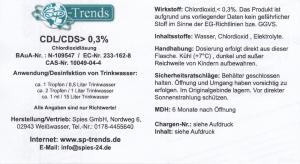 CDL/CDS Chlordioxid-Lösung < 0,3% / 100 ml
