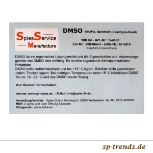 DMSO PH neutral 99,9% Reinheit / 100 ml