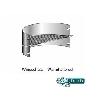 Windschutz und Warmhalterost für Grill CLASSIC+ RUNDO