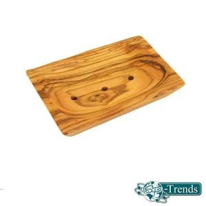 Seifenablage Groß aus Olivenholz / Mulde 11 x 7 cm