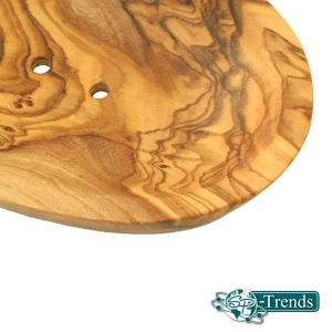 Seifenschale groß aus Olivenholz ca. 15 cm